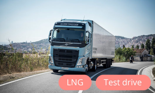 Volvo NEW LNG test drive truck!