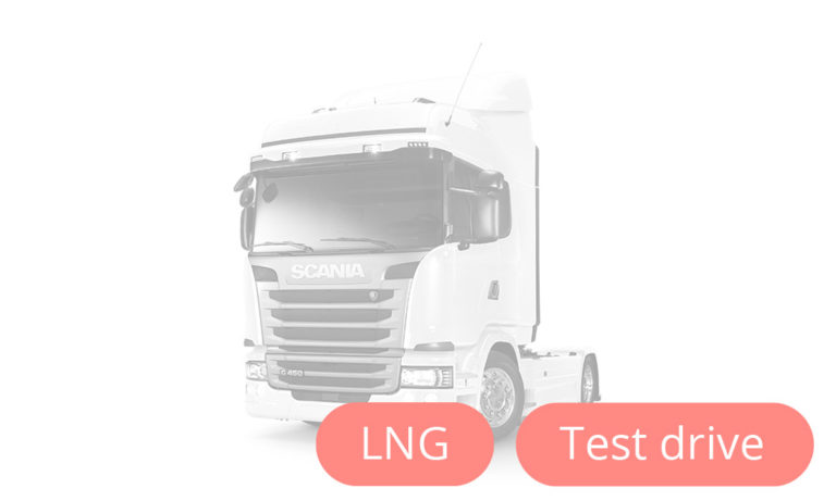 Scania LNG truck fueled by LNG
