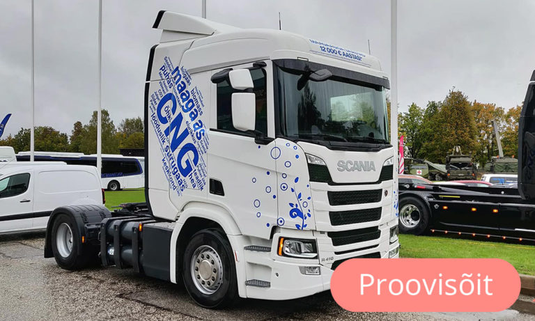Scania R410 CNG proovisõiduauto