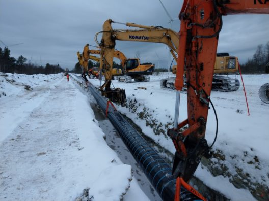 Balticconnector January 2019: installation of gas pipes