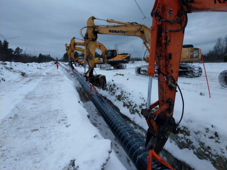 Balticconnectori torude paigaldus, jaanuar 2019, EG Ehitus, Eesti Gaas