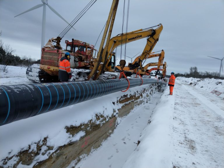 Balticconnectori torude paigaldus, EG Ehitus, Eesti Gaas