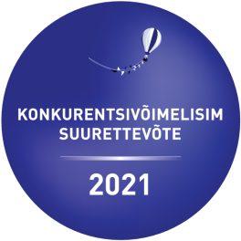 Eesti Gaas AS on 2021. aasta konkurentsivõimelisim suurettevõte.